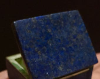 157 carat beautiful top blue color lapiz lazuli hand made box from afghanistan