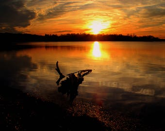 Sunset on Lake Quanapowitt  Wakefield MA