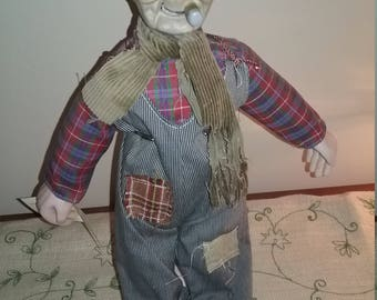 Hobo Junction collectible doll Poker Face Pete, collectible doll, Poker Face Pete, Hobo junction doll, Hobo junction, vintage doll