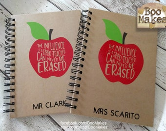 A5 Lined Kraft Notebook for Teachers Gift | Teacher end of term present