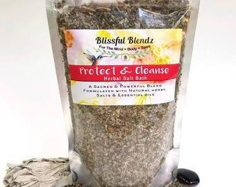 Protect & Cleanse Herbal Salt Bath