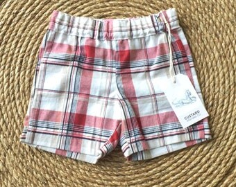Sunmer shorts -Baby boys shorts - shorts- baby boys - 12-18 month shorts- cotton shorts for boys - short pants-plaid shorts