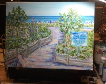 Ocean City Dunes Crossing original painting 12 x 16 inches