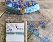 Sky Blue Fabric Scripture Bracelet, Christian Jewellery
