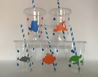Finding Dory Party Cups, Finding Nemo party Cups, Nemo Birthday Party