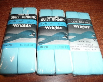 Wright's Double Fold Quilt Binding Light Blue Color