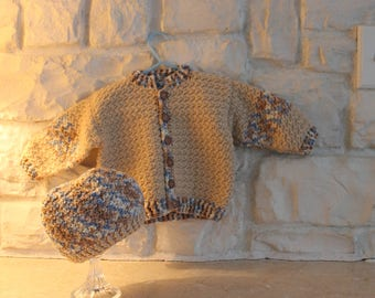 Baby Boy sweater and hat set