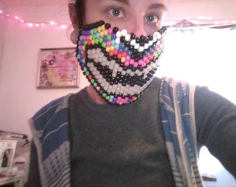 Crazy glowing teeth kandi mask