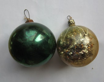 Vintage Soviet glass New Year's Christmas Tree Ornaments USSR 1960