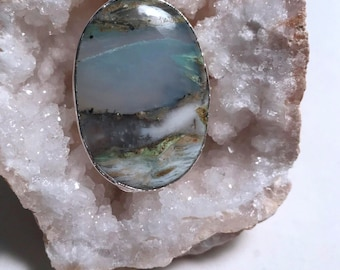 "One of a Kind ""Mountainscape"" Peruvian Opal Necklace"