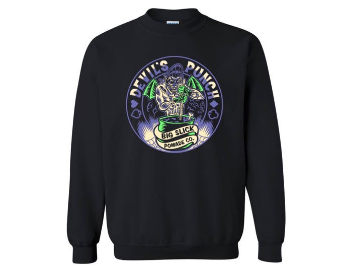 NEW! Big Slick Pomade Co. Devil's Punch Crewneck Sweatshirt