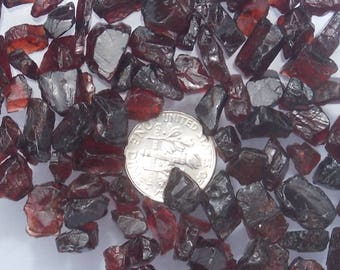 African Garnet Rough, Mostly Clean, Facet, Bead, or Craft Supplies. Average Weight 3.7ct and Average Diameter 5-10 mm. 100ct-12.99