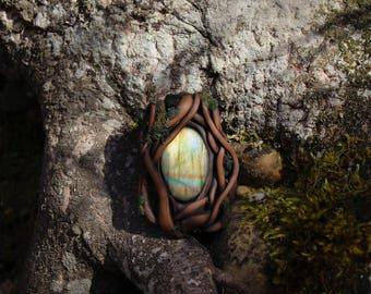 Magic Labradorite Fairy Pendant