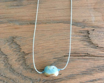 Amazonite Gemstone Necklace on Silk Cording