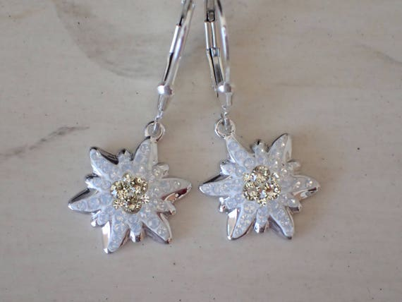 Swarovski Jonquil Edelweiss Earrings, Sterling Silver