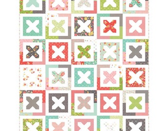 """SALE!! Tansy Quilt Pattern in Flower Mill by Corey Yoder for Moda- Finished Size 60"""" x 72"""""""