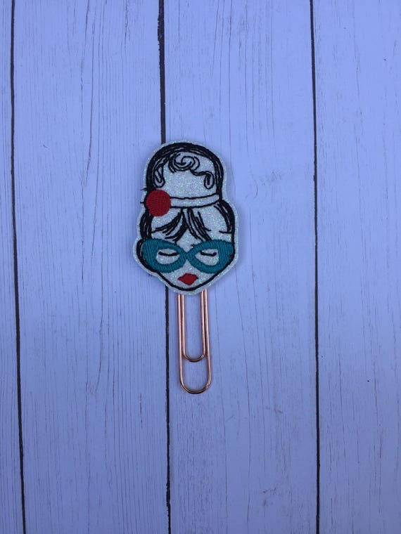 Fashion Girl With Glasses & Headband Planner Clip/Planner Clip/Bookmark. Washi Girl Planner Clip. Fashion Girl Planner Clip. Planner Girl