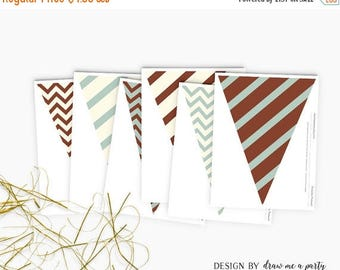 20% OFF Woodland Pennant Flag , Woodland Baby Shower , Boy Baby Shower , Woodland Birthday Party , Printable ,  Instant Download