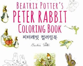 Sale book - Peter rabbit coloring book by beatrix potter