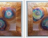 RESERVED-Lauris, Custom Copper Fire Paintings