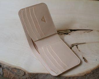 Leather Wallet, Handmade Leather, Mens Leather Wallet, Unique Wallet, Bi-Fold Wallet, BillFold Wallet, Italian Leather, Handmade Wallet