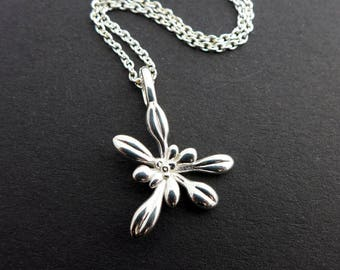 Small Arabidopsis Rosette Pendant - Plant Biology pendant Science Jewelry