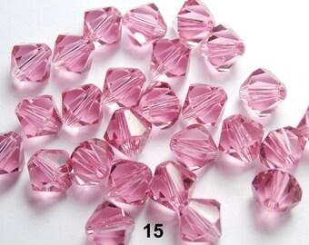 24 tops Swarovski 6 mm pink (15)