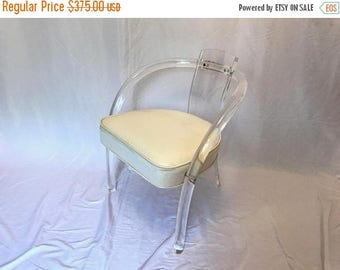ON SALE Vintage Lucite Acrylic Armchair in the style of Charles Hollis Jones