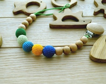 Dummy baby boy | Pacifier holder | Universal dummy clip | Dummy chain | Baby soother clip | Newborn baby dummy | Wooden teether | Teething