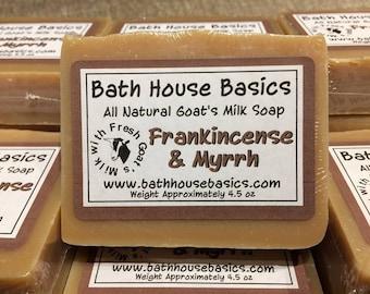 Frankincense & Myrrh Handcrafted Goat's Milk Soap
