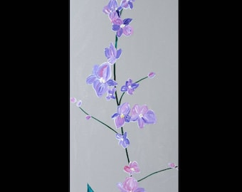 Picture(Board) 30 x 70 cm gorgeous orchid pink and purple