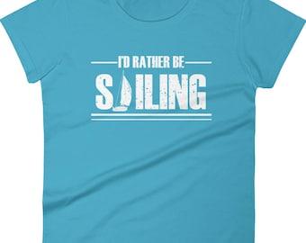 Woman's Sailing T-shirt - Sailboat T-shirt, Sailboat Sailing T-shirt, Nautical Tshirt, Yachting T-shirt, Boat Shirt, Cruising T-shirt