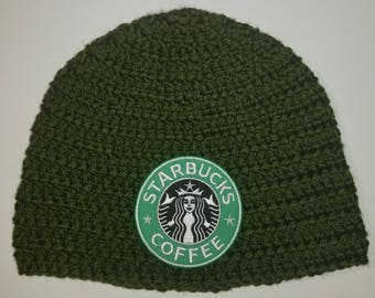 Starbucks Beanie - Green Hat   *Customize your hat color!