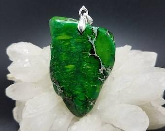 Green Sea Sediment Jasper Pendant.