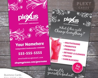 Fancy Plexus Business Cards - Printed and Shipped