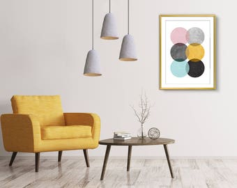 3 Pendant lights, Ceiling light fixture, Modern lighting, Modern light fixture, Industrial lighting, Modern pendant, Ceiling lamp shade,