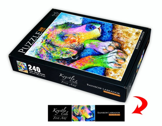 Dog Puzzle - Labrador Retriever, Dog Lover Gift, Dog Jigsaw Puzzle, Jigsaw Puzzles, Fun Puzzle Gifts, Fine Art Puzzle, 240 Piece Puzzle.
