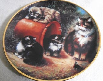 Beautiful collectible-Cats-Franklin Mint-furry fascination-arias Lester-Vintage CAT/cats collector plate