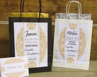Personalised Mandala Design Bridesmaid Gift Bag