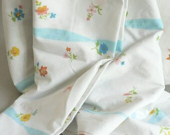 White Floral Full Double Bed Sheet