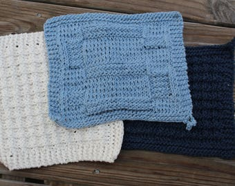 Monogrammed Knited Dish Cloths