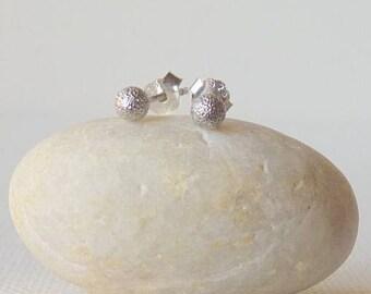 Sterling Silver Tiny Stud Earrings, Dot Stud,Petite Ball Stud, Vintage Minimalistic Earring,Tiny Earrings, Minimalist Jewelry, Pierced Stud