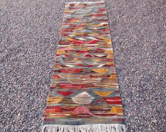 Patchwork moroccan runner runner rug hall rug morrocan rug berber area tribal kilim