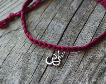 OM YOGA BRACELET - Tie On
