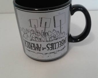 Vintage Gary Larson 1981 Humourous  Mug Imbeciles of America