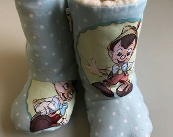 Baby Winter booties Pinocchio zip up boots slippers