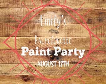 Emily's Bachelorette Paint Party