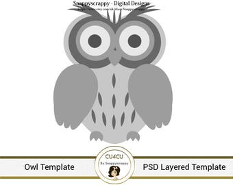 Owl Photoshop Layered Templates