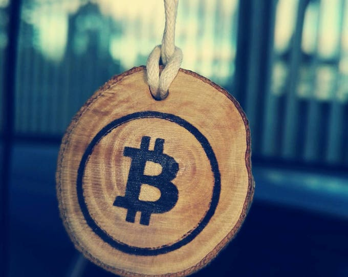 Bitcoin Cryptocurrency Wood Personalized Novelty Key Fob Patchouli Various  Scented Car Air Freshener Christmas Gift  Him  For Her #Bitcoin