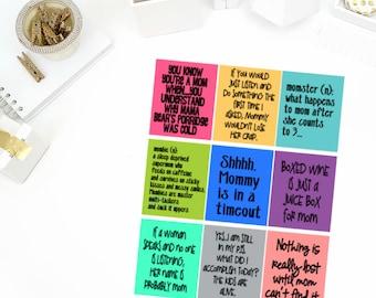 Mom Quote Stickers! Perfect for your Erin Condren Life Planner, calendar, Paper Plum, Filofax!